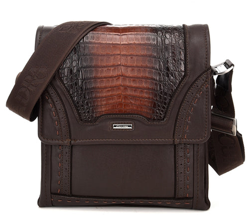 Cuadra Extasis Caiman Belly Messenger Bag