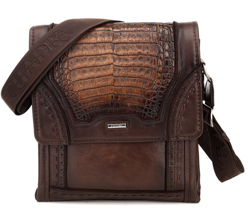 Cuadra Porto Maple Caiman Belly Messenger Bag