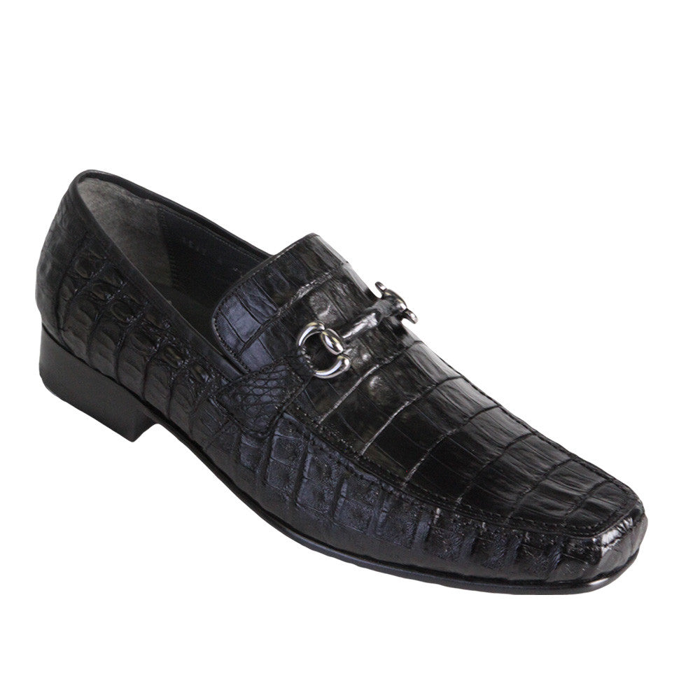 Los Altos Men's Caiman Belly Loafers - VaqueroBoots.com - 2