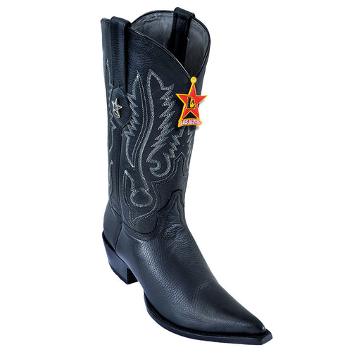 Los Altos Pointed Toe Deer Cowboy Boots - VaqueroBoots.com