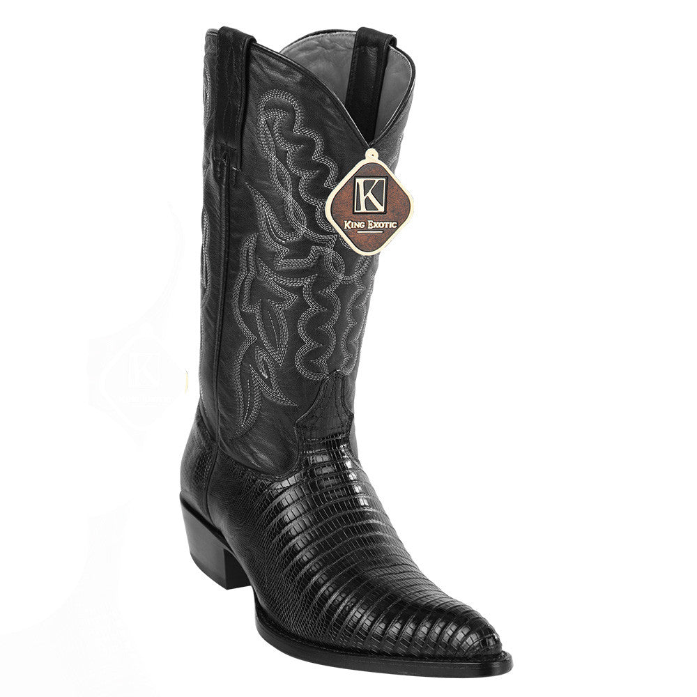 King Exotic Men's Lizard Western Boots J Toe - VaqueroBoots.com - 4