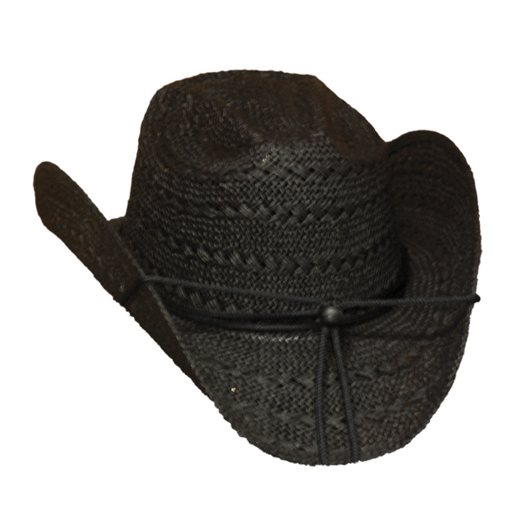 Black Cowgirl Straw Hat