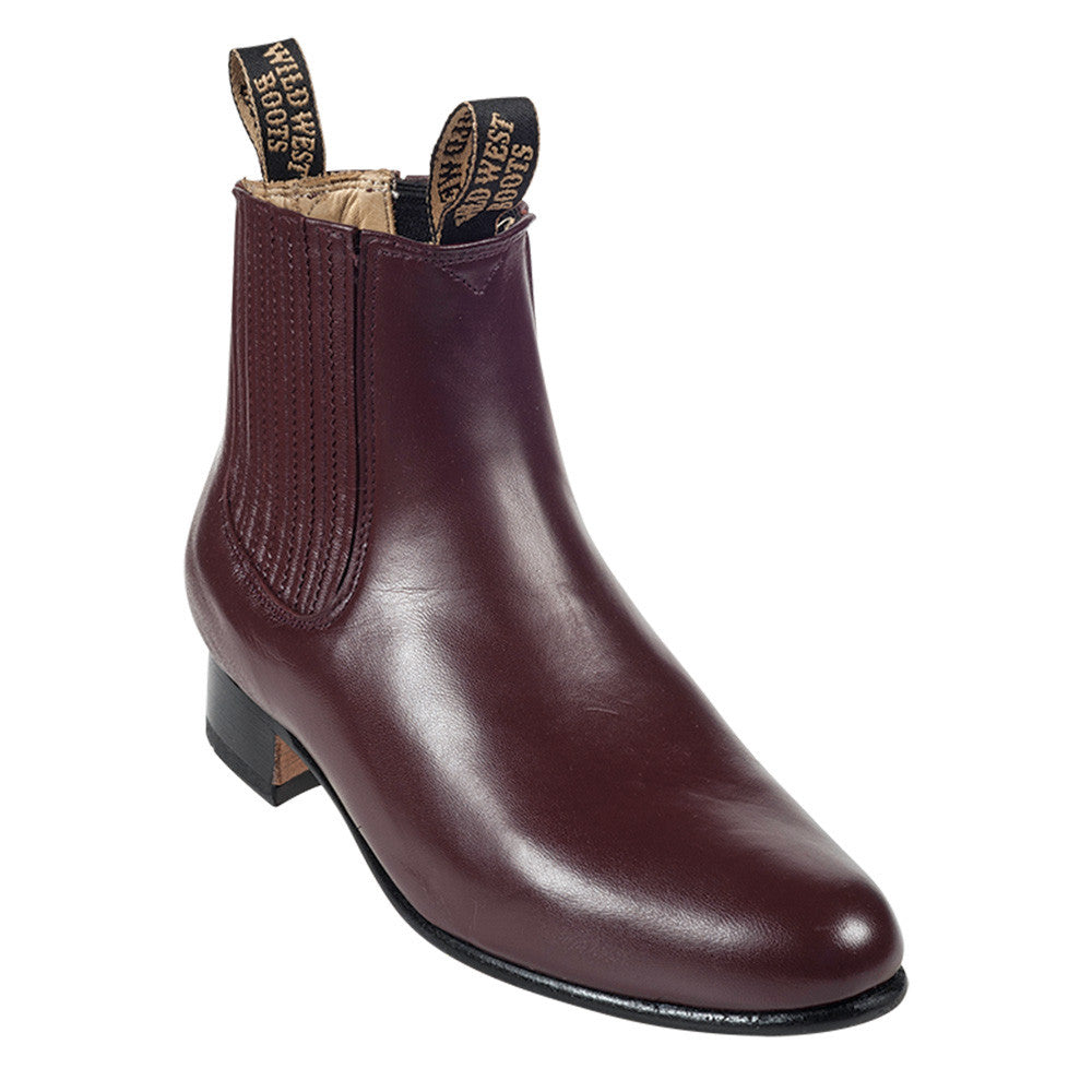 Wild West Men's Deer Leather Ankle Boots - VaqueroBoots.com - 4