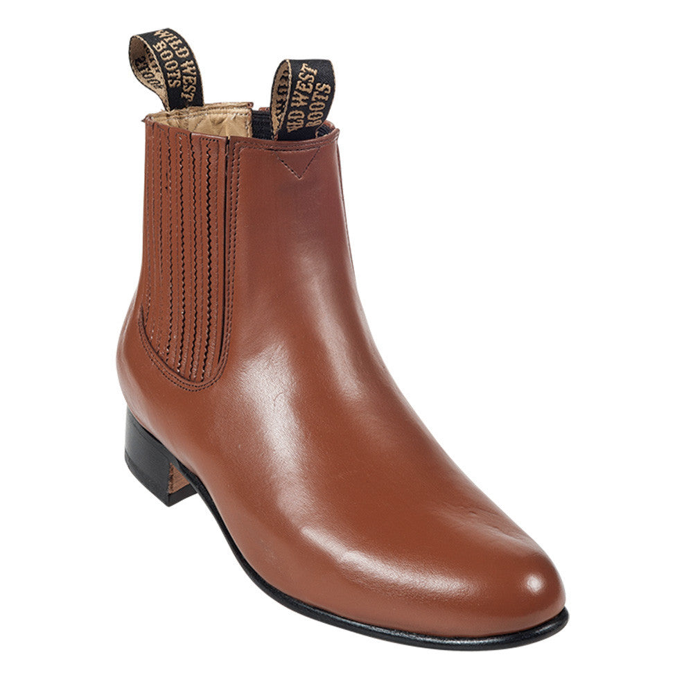 Wild West Men's Deer Leather Ankle Boots - VaqueroBoots.com - 5