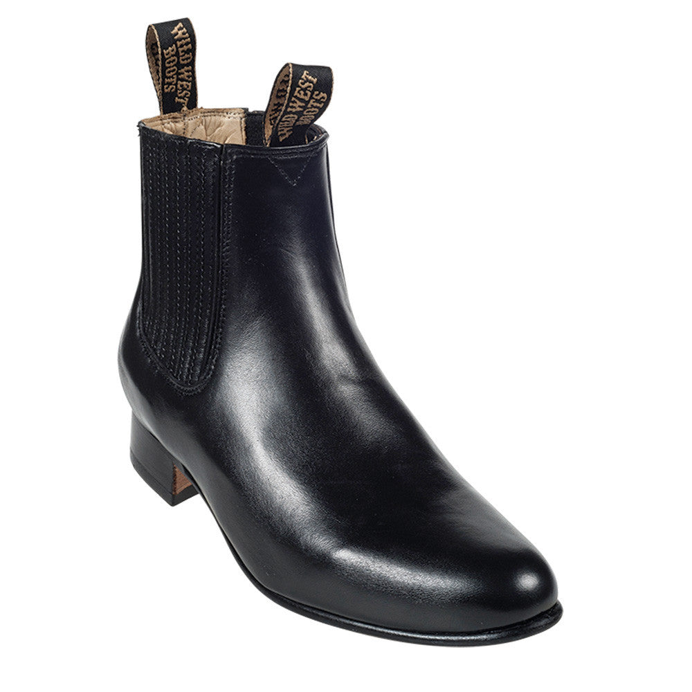 Wild West Men's Deer Leather Ankle Boots - VaqueroBoots.com - 6