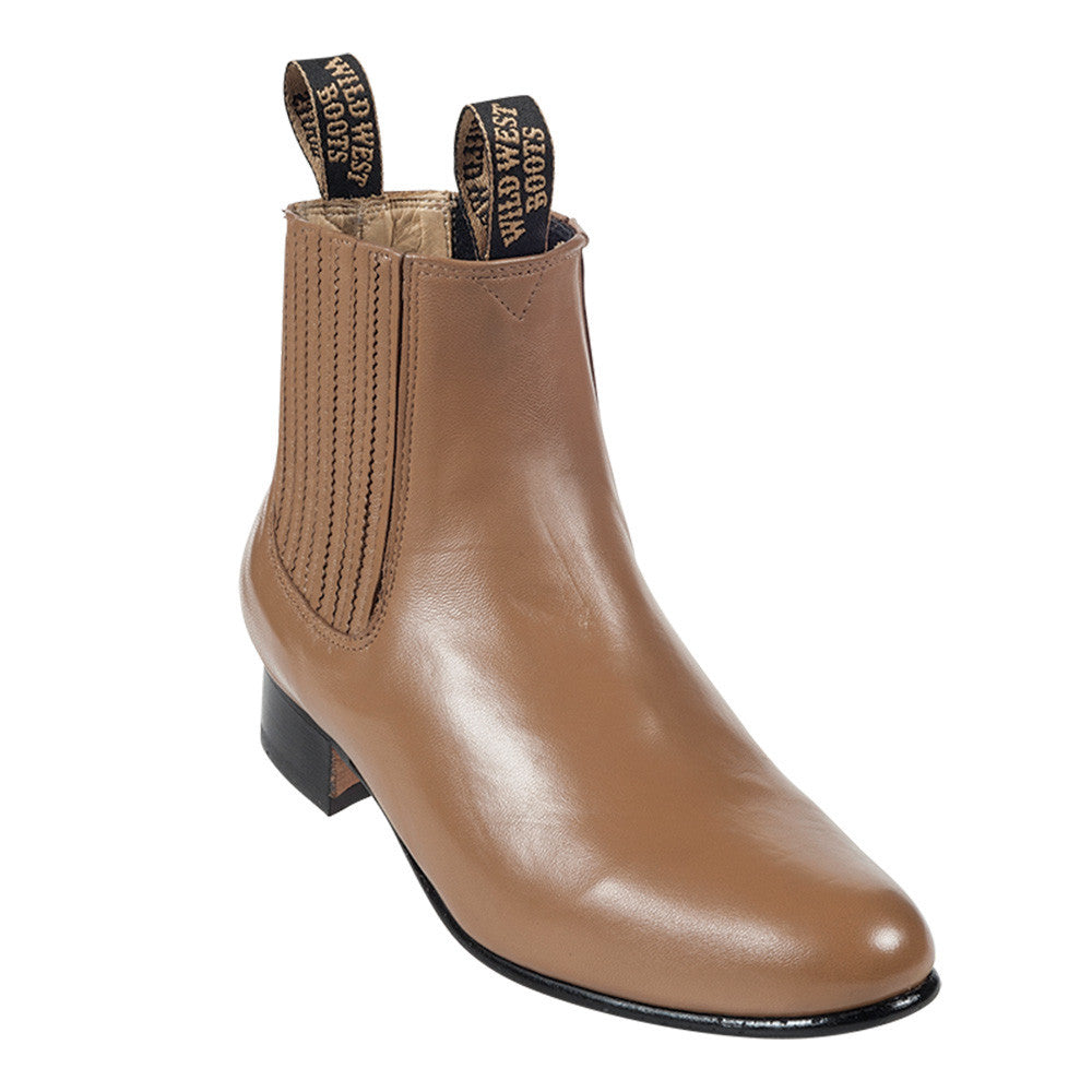 Wild West Men's Deer Leather Ankle Boots - VaqueroBoots.com - 2