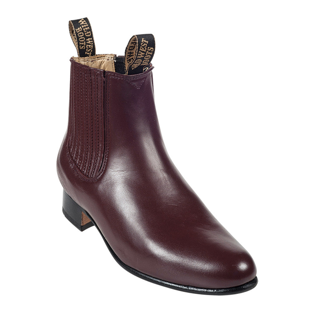 Wild West Men's Deer Leather Ankle Boots - VaqueroBoots.com - 3