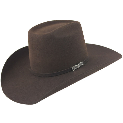 Cuernos Chuecos Chocolate 6X Brick Crown Felt Hat
