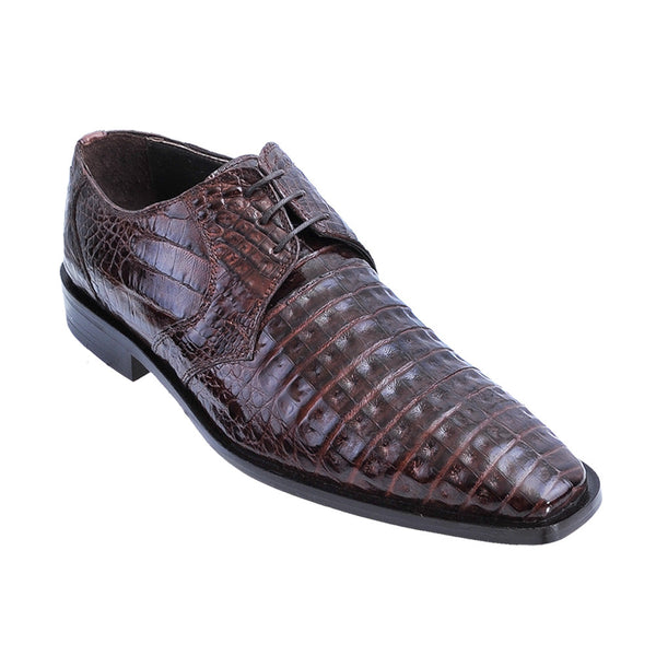 Los Altos Men's Caiman Dress Shoes - VaqueroBoots.com - 2