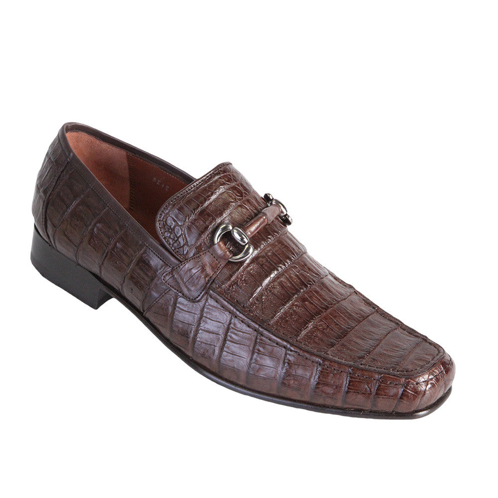 Los Altos Men's Caiman Belly Loafers - VaqueroBoots.com - 3