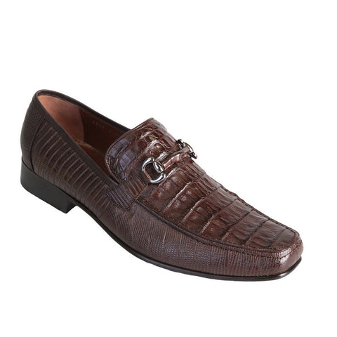 Los Altos Men's Exotic Loafers Caiman/Lizard - VaqueroBoots.com - 1