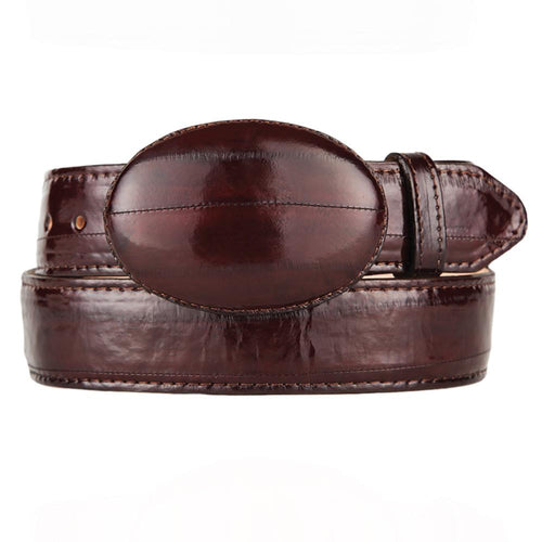 Brown Eel Cowboy Belt