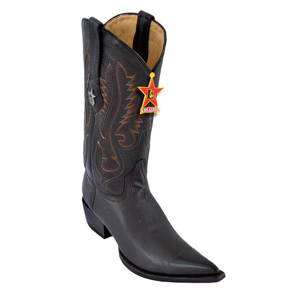 Los Altos Pointed Toe Deer Cowboy Boots - VaqueroBoots.com - 3