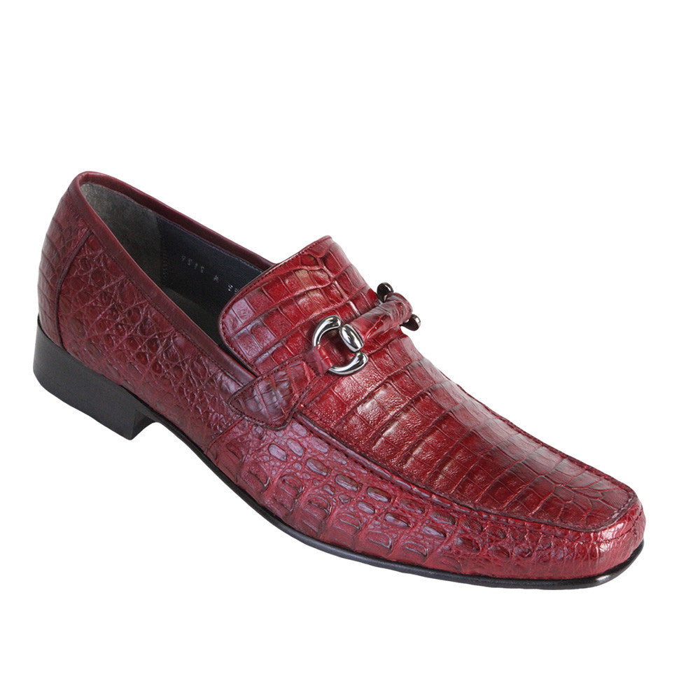 Los Altos Men's Caiman Belly Loafers - VaqueroBoots.com - 4