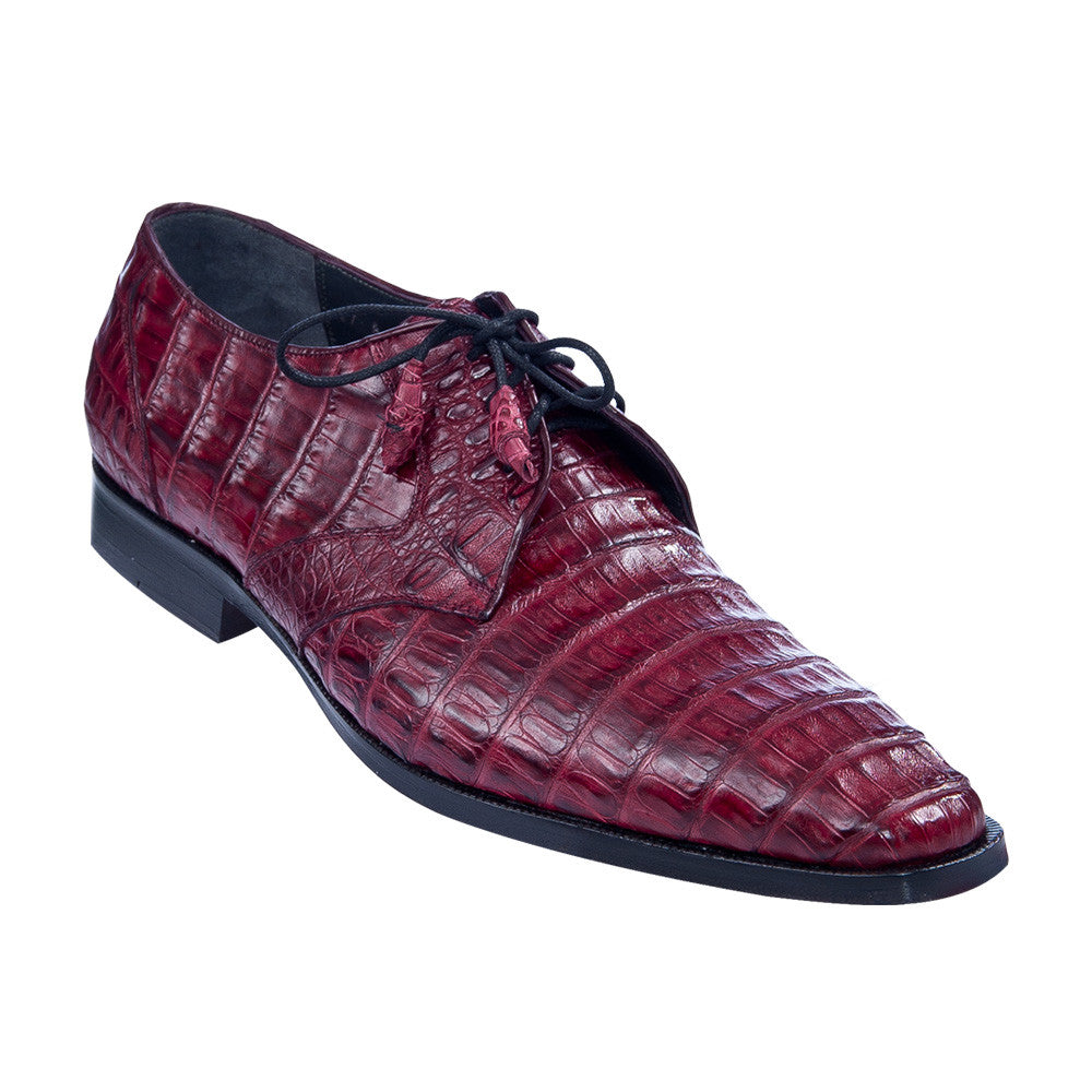 Los Altos Men's Caiman Dress Shoes - VaqueroBoots.com - 8
