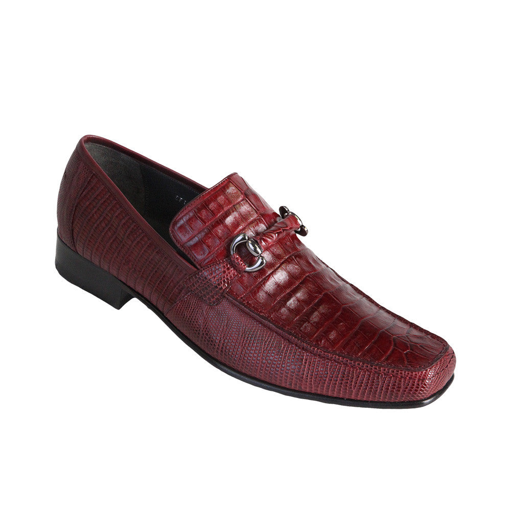 Los Altos Men's Exotic Loafers Caiman/Lizard - VaqueroBoots.com - 3