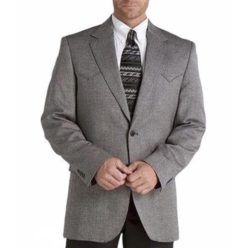 Circle S Mens Men's Donegal Black Plano Sportcoat Jacket Blazer
