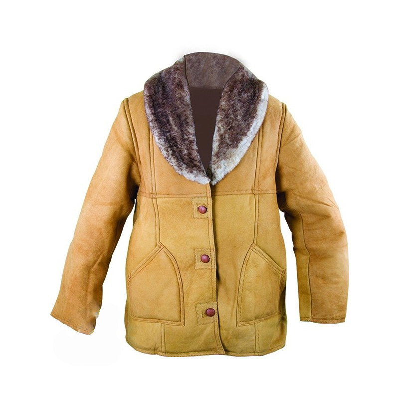 Men's Long Sheepskin Jacket - VaqueroBoots.com - 2