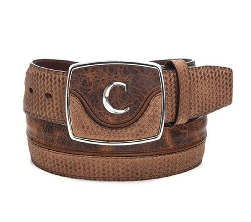 Cuadra Men's Modern Leather Belt Santana Honey