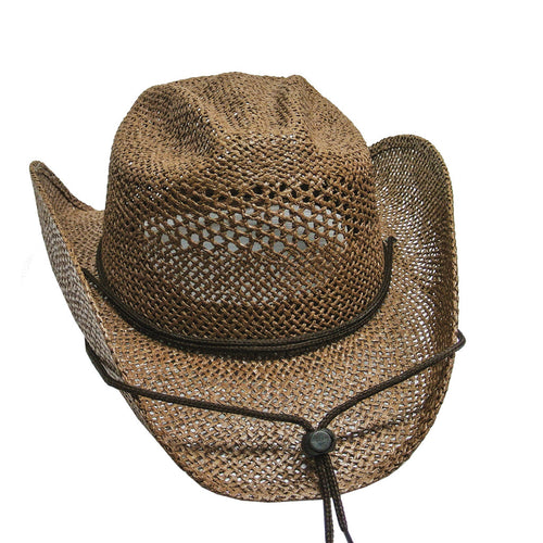 Brown Cowgirl Straw Hat