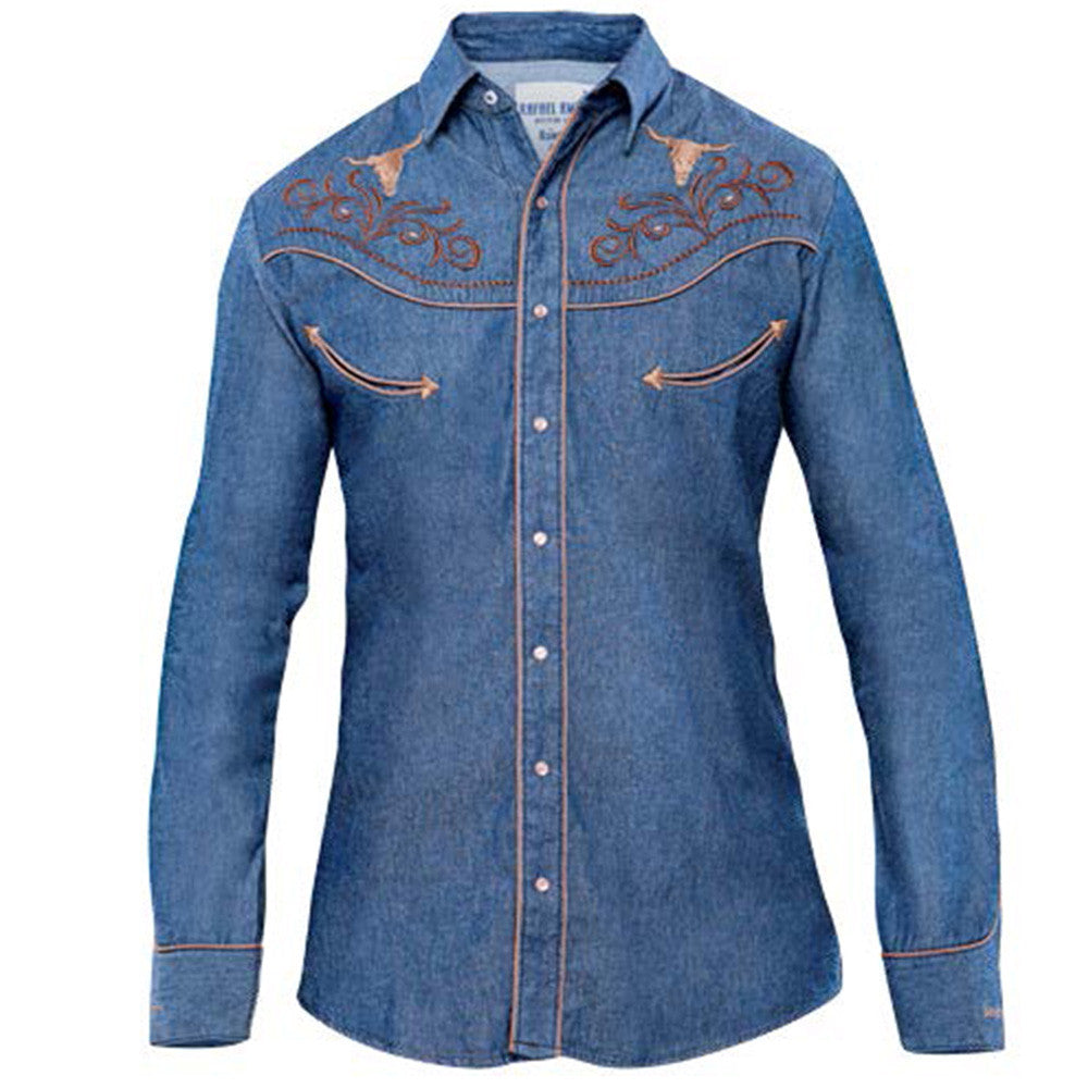 Rangers Men's Denim Western Shirt