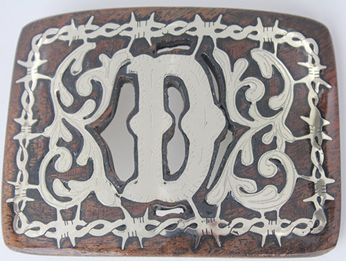 Western Buckle With Letter D