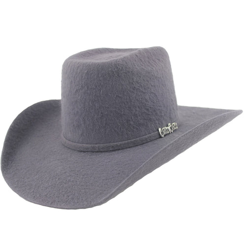 Cuernos Chuecos 10x Dark Gray Grizzly Fur Felt Cowboy Hat