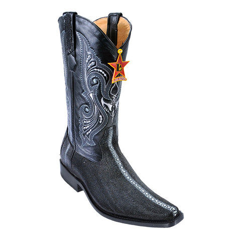Los Altos Stingray Row-Stone Black European Toe Boots - VaqueroBoots.com - 1