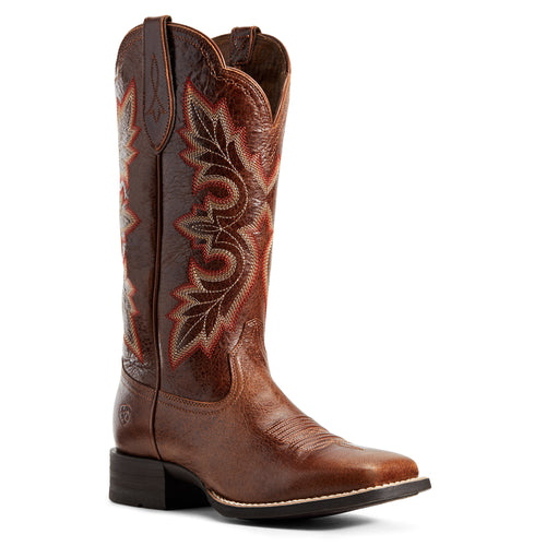 Ariat Women's Breakout Rustic Brown Square Toe Cowgirl Boots