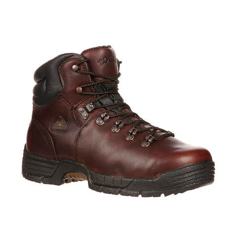 Rocky MobiLite Dark Brown Steel Toe Waterproof Work Boots - VaqueroBoots.com - 1