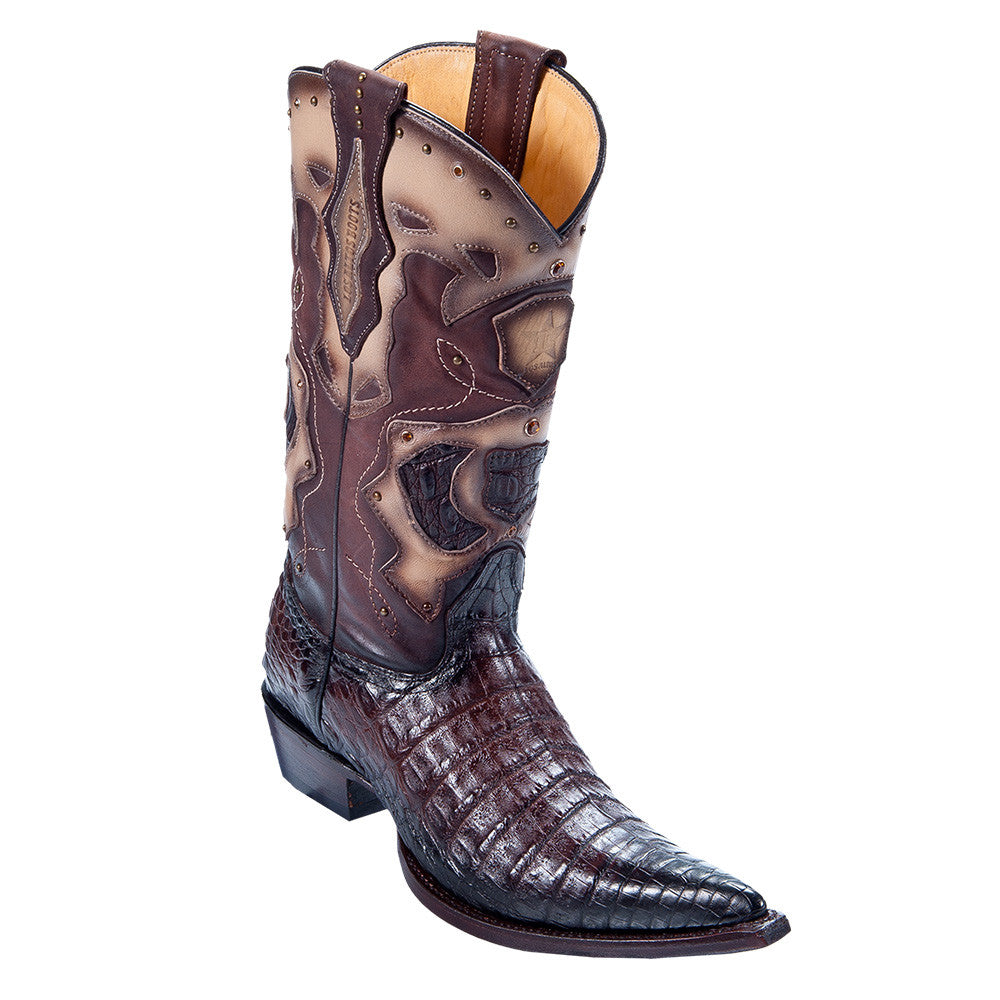 Los Altos Men's Pointed Toe Caiman Belly Cowboy Boots - VaqueroBoots.com - 3