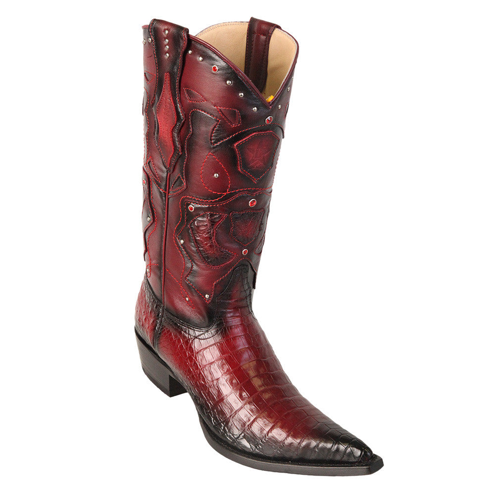 Los Altos Men's Pointed Toe Caiman Belly Cowboy Boots - VaqueroBoots.com - 2