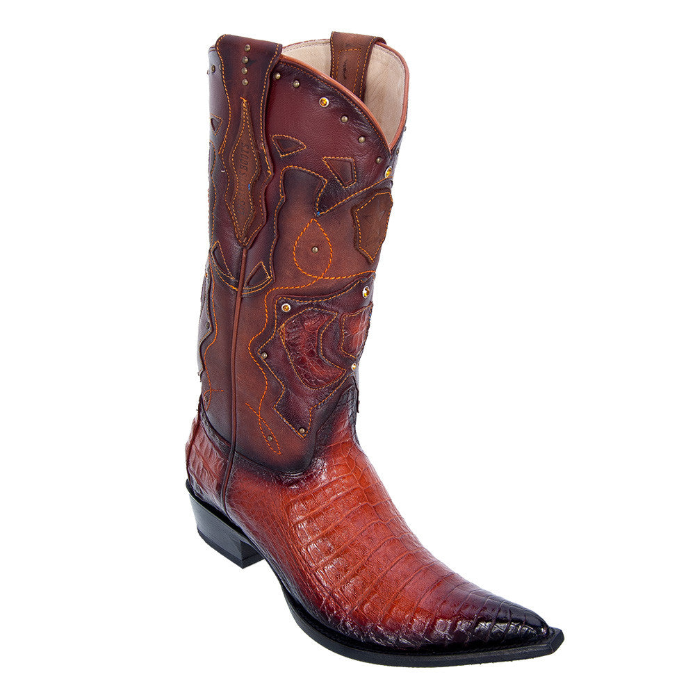 Los Altos Men's Pointed Toe Caiman Belly Cowboy Boots - VaqueroBoots.com - 4