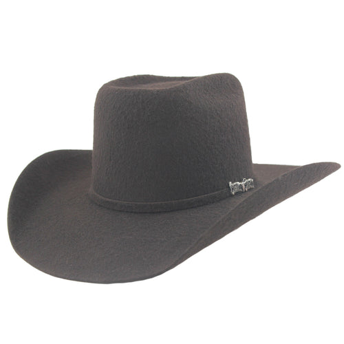 Cuernos Chuecos 10x Chocolate Grizzly Fur Felt Cowboy Hat
