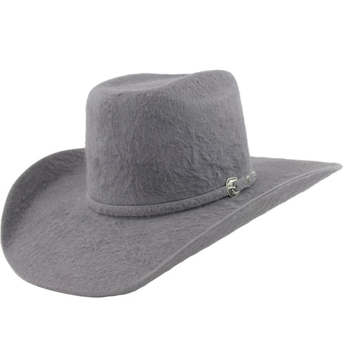 Cuernos Chuecos 30x Dark Gray Grizzly Fur Felt Cowboy Hat