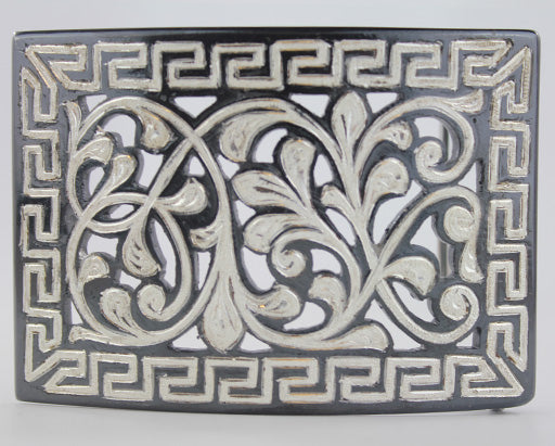 Silver Plaited Charro Buckle