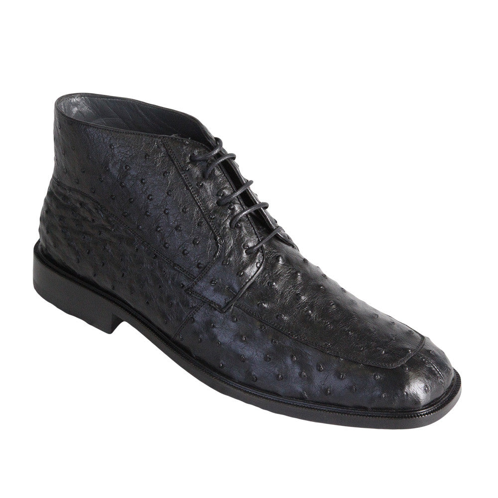 Men's High Top Ostrich Shoes - VaqueroBoots.com - 3
