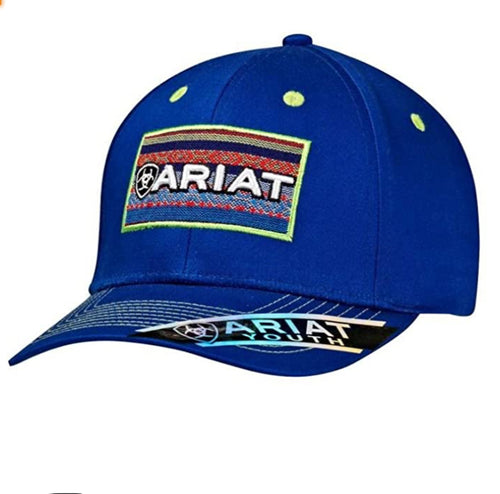 Youth Ariat Snapback Blanket Patch Blue Cap