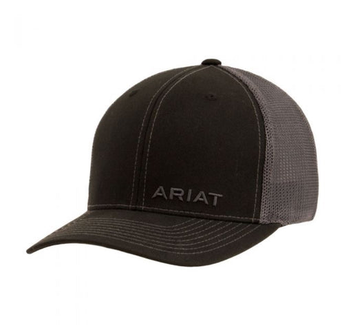 Ariat Men's Black Snapback Cap