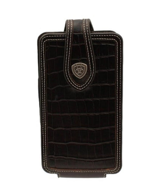 Ariat Black Croc Print Cell Phone Case
