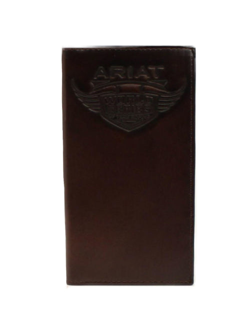 Ariat Brown Rodeo Checkbook Wallet