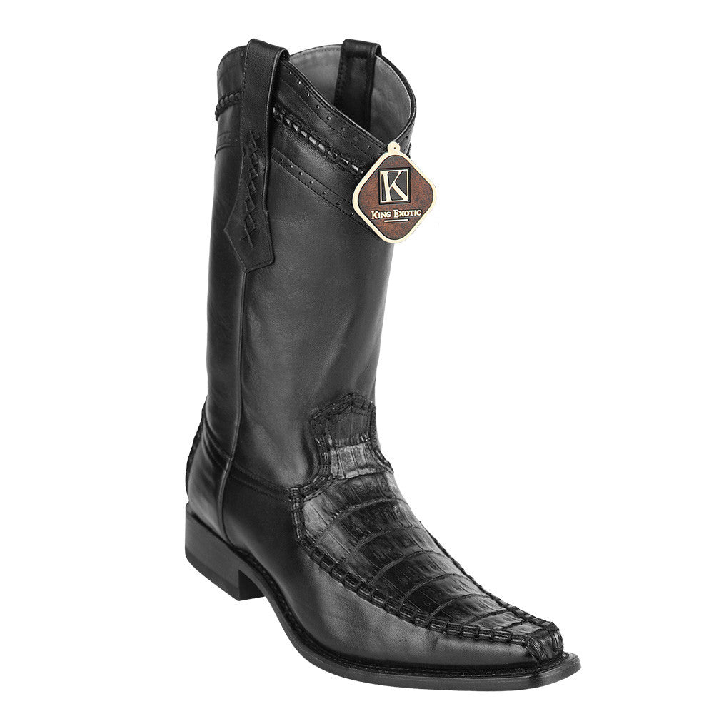 King Exotic Caiman Belly European Toe Boots - VaqueroBoots.com - 4