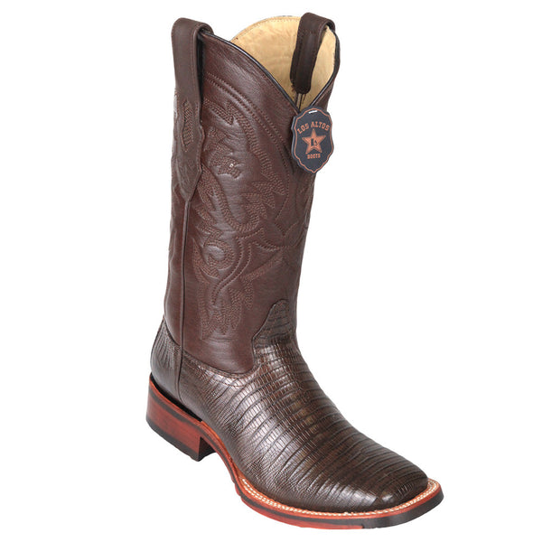 Los Altos Men's Lizard Wide Square toe Boots - VaqueroBoots.com - 4