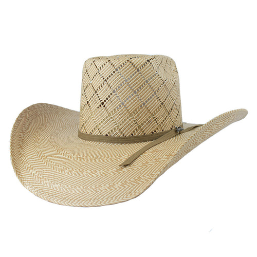 Tombstone Longhorn Brick Crown Cowboy Hat Tan/Beige
