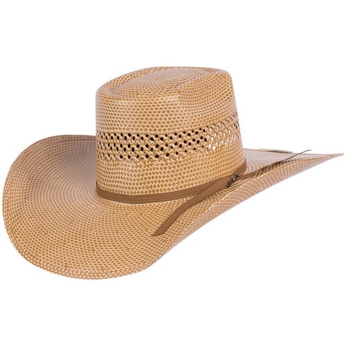 Tombstone Longhorn Brick Crown Cowboy Hat Natural/Tan