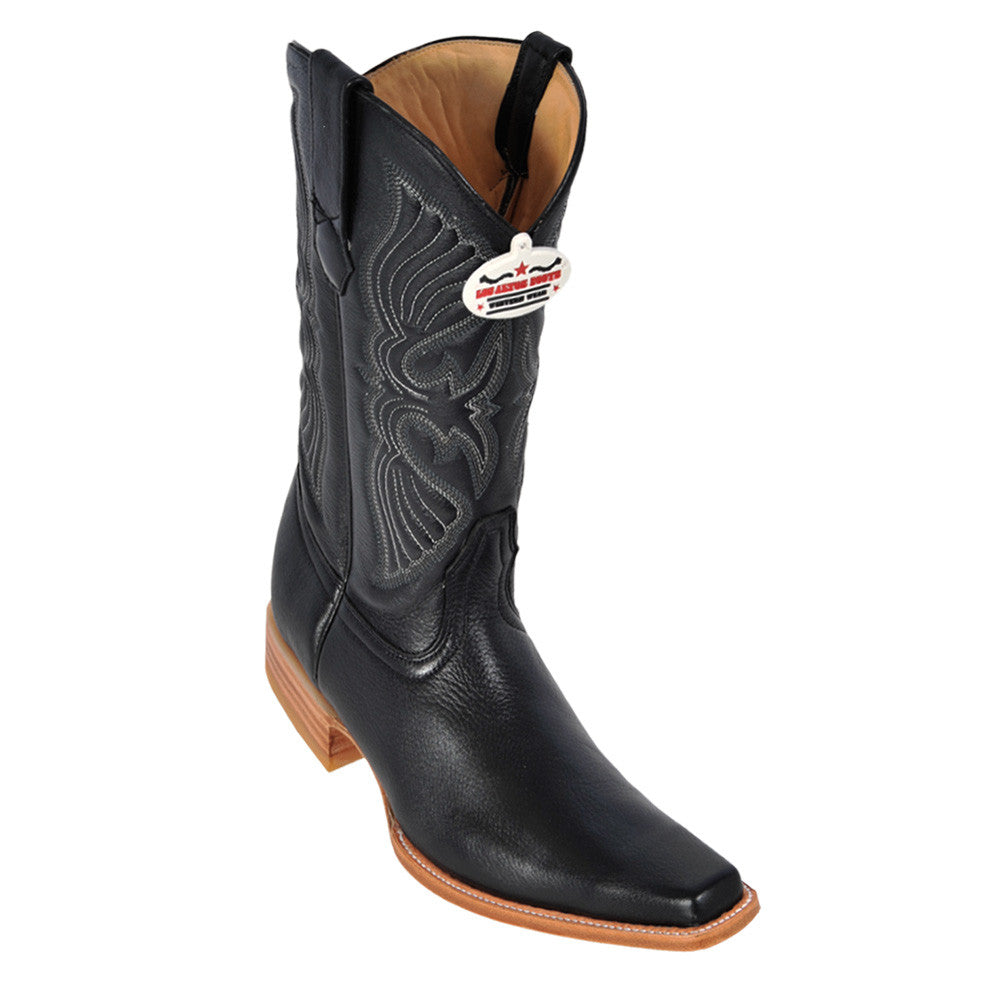 Los Altos Men's Deer European Toe Western Boot - VaqueroBoots.com - 1