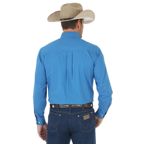 27ebf57a35 Wrangler Men s Western Classic Long Sleeve Button Down Print Shirt