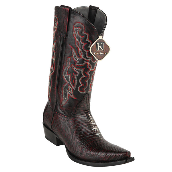 King Exotic Men's Lizard Snip Toe Western Boots - VaqueroBoots.com - 7