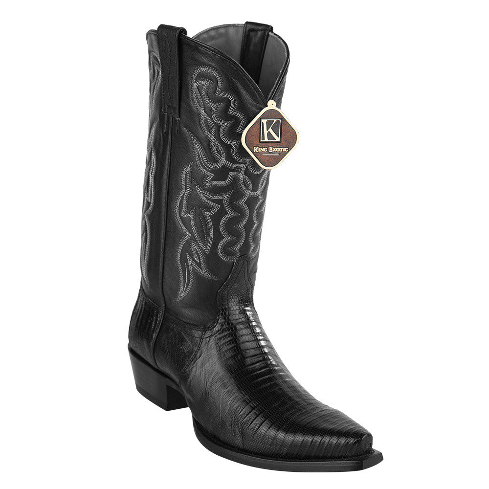 King Exotic Men's Lizard Snip Toe Western Boots - VaqueroBoots.com - 1