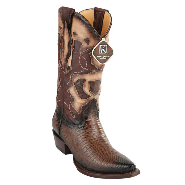 King Exotic Men's Lizard Snip Toe Western Boots - VaqueroBoots.com - 5
